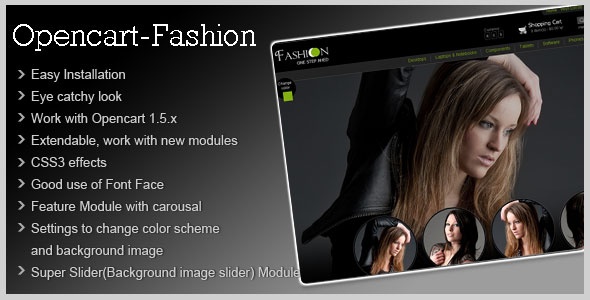 Fashion Theme for Opencart 1 5 | CartDeveloper